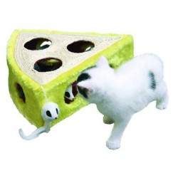 Juguete queso de Sisal - Medidas: 28x28x10 cm.