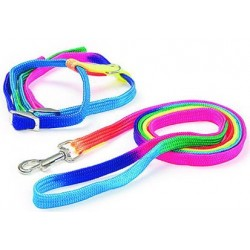 Collar - Arnés Rainbow - Correa (120 cm x 10 mm).