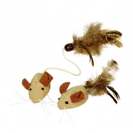 Ratones con plumas. 4,5 cm (2 uds.)